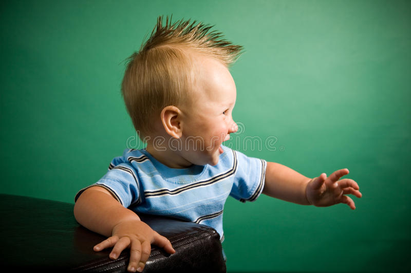 Nine Month Old Boy. A portrait of a cute nine month old baby boy stock photography