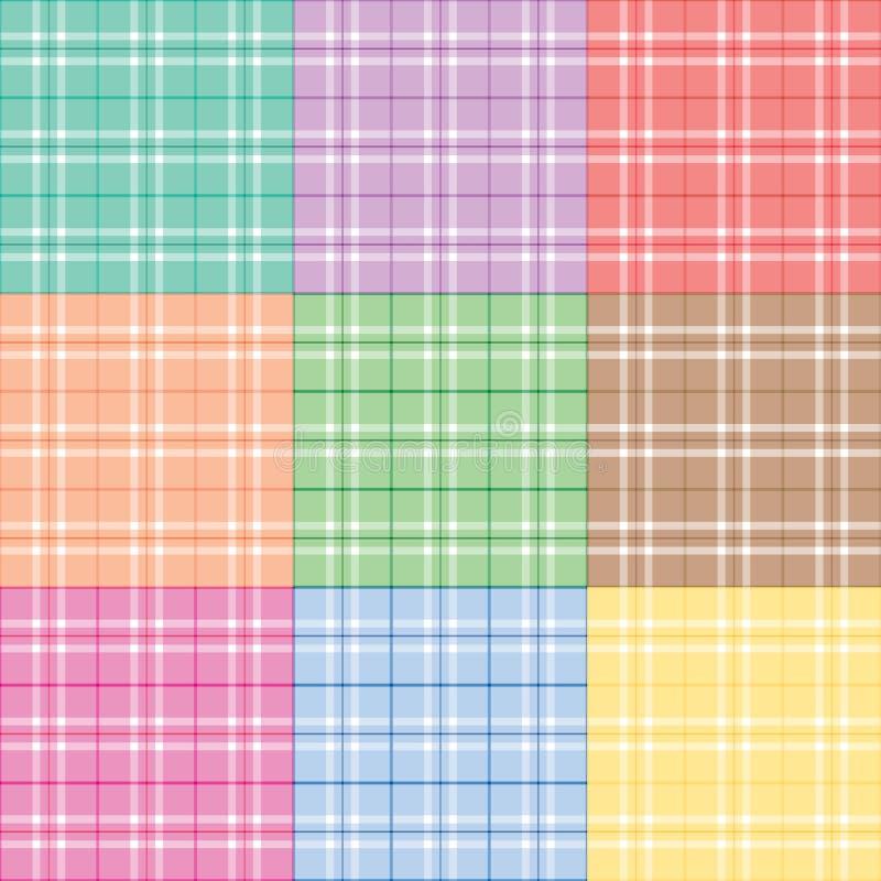Download Nine Pastel Plaids stock vector. Image of plaid, purple - 4453782
