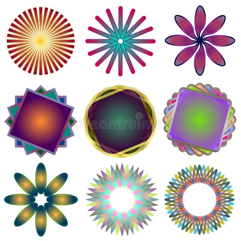 Download Nine Spirographs Royalty Free Stock Image - Image: 27513956
