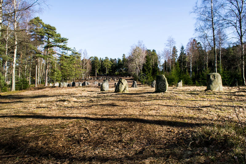 The nine stone circles of Hunn royalty free stock photography