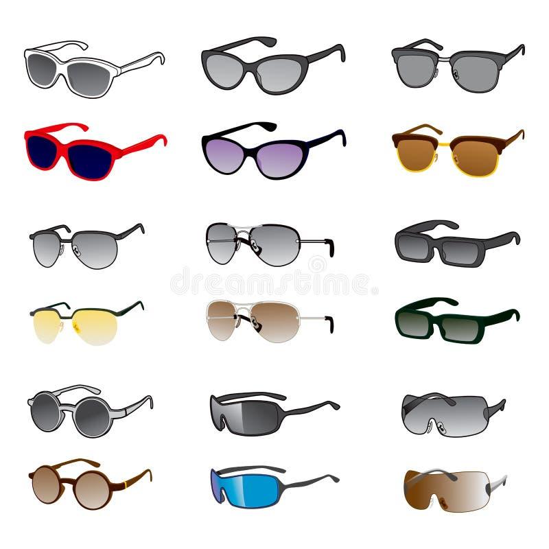 Download Nine Sunglasses Styles stock vector. Image of nerd, icon - 36384271