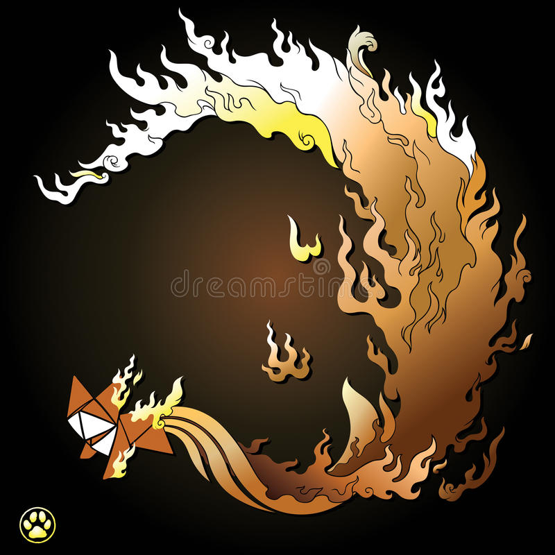 Download Nine Tailed Fox Stock Illustration Of Myth