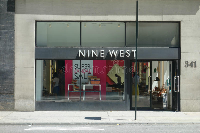 Nine West. A Nine West store on Madison Avenue, New York City. Nine West is a fashion wholesale and retail company royalty free stock photo