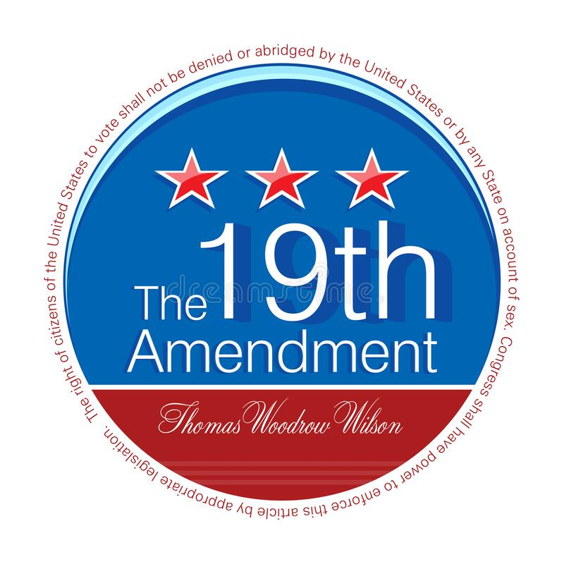 Free Nineteenth Amendment To The United States Constitution Royalty Free Stock Image - 190399176
