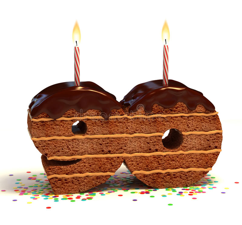 Download Ninetieth Birthday Or Anniversary Cake Stock Illustration - Image: 18035873