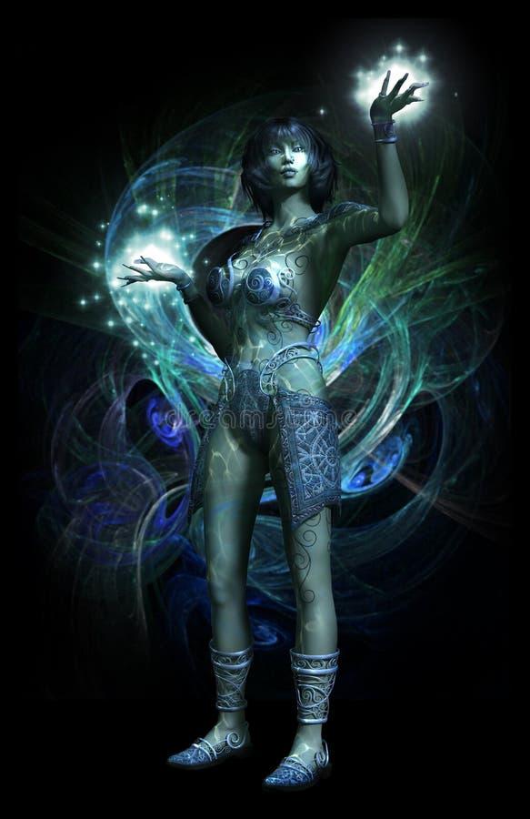 Ninfa mágica stock de ilustración