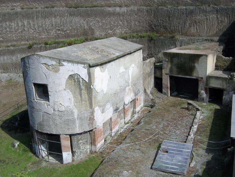Ninfeo de la villa des papyrus à Ercolano en Italie photographie stock
