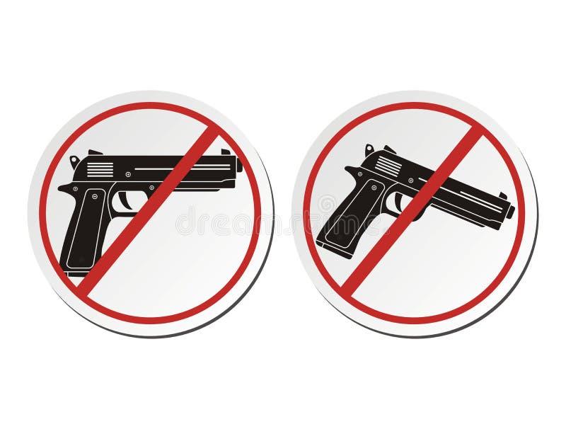 Ningún arma - sistemas de la etiqueta engomada libre illustration