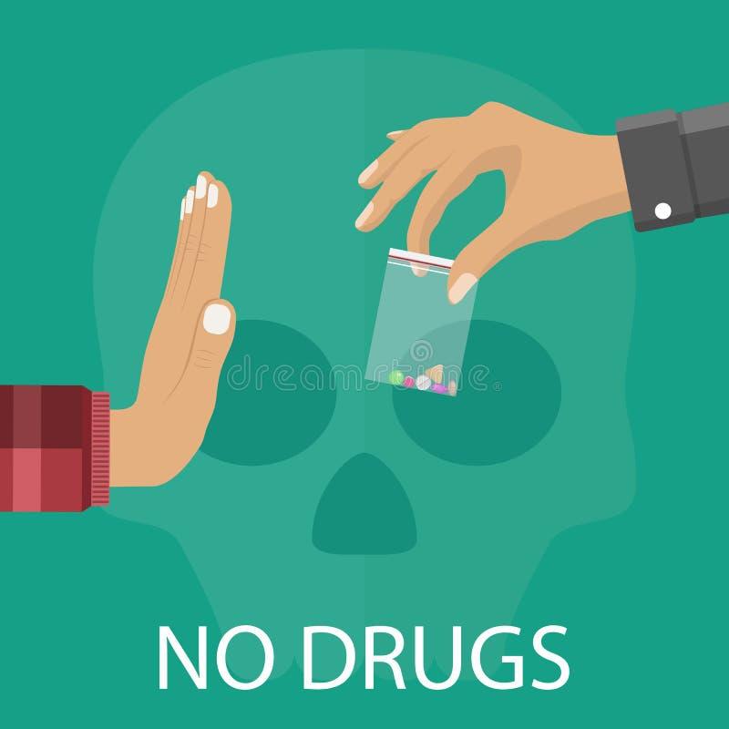 Ningún concepto de las drogas libre illustration