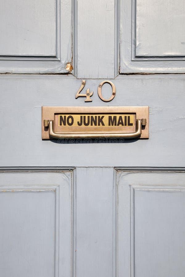 Ningún correo basura imagenes de archivo