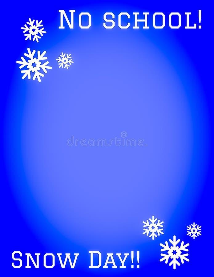 Ningún día de la nieve de la escuela ilustración del vector