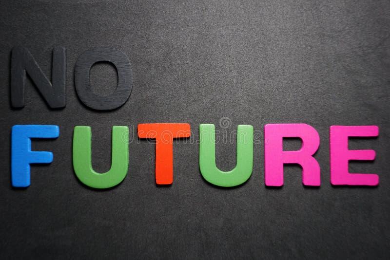 Ningún futuro fotografía de archivo libre de regalías