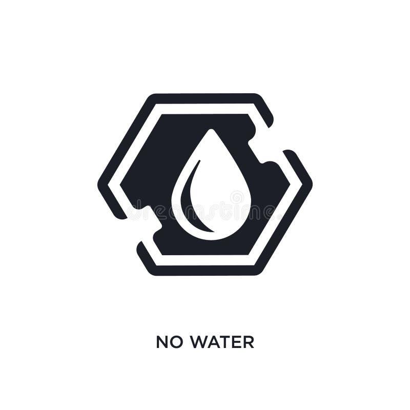 ningún icono aislado agua ejemplo simple del elemento de iconos del concepto de las muestras no diseño editable del símbolo de la stock de ilustración