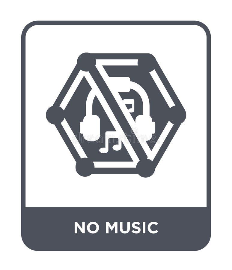 ningún icono de la música en estilo de moda del diseño ningún icono de la música aislado en el fondo blanco plano simple y modern libre illustration