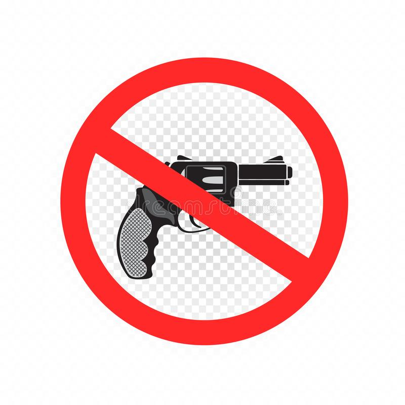 Ningún icono de la muestra de las armas y de los armas ilustración del vector