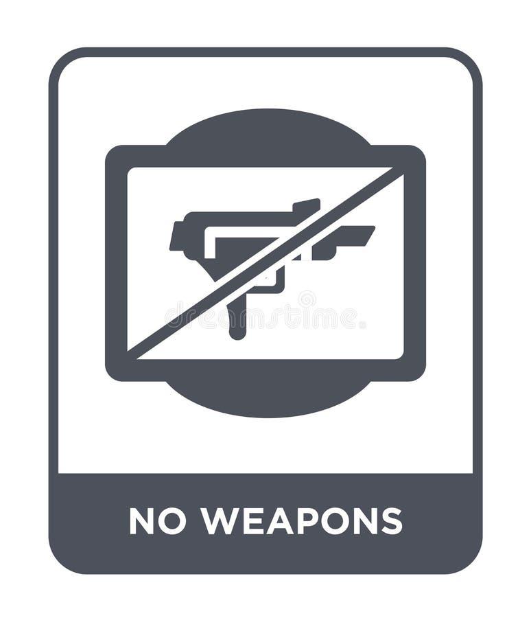 ningún icono de las armas en estilo de moda del diseño ningún icono de las armas aislado en el fondo blanco ningún icono del vect libre illustration