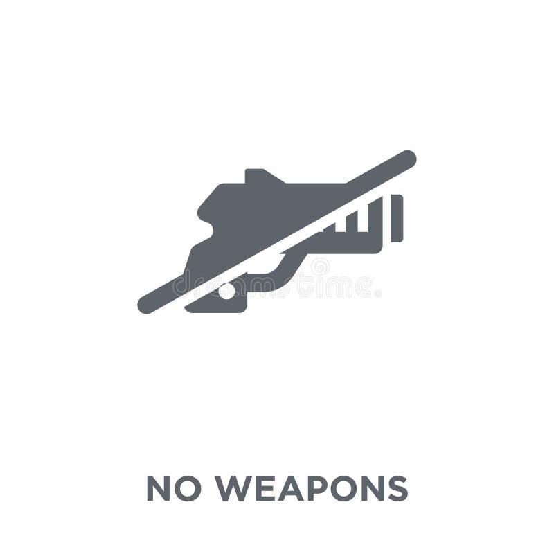 Ningún icono de las armas de la colección ilustración del vector