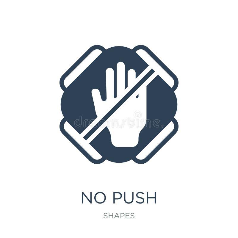 ningún icono del empuje en estilo de moda del diseño ningún icono del empuje aislado en el fondo blanco símbolo plano simple y mo libre illustration