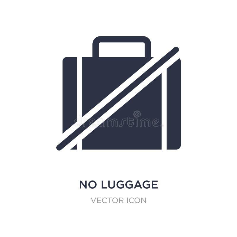 ningún icono del equipaje en el fondo blanco Ejemplo simple del elemento del concepto de los mapas y de las banderas stock de ilustración