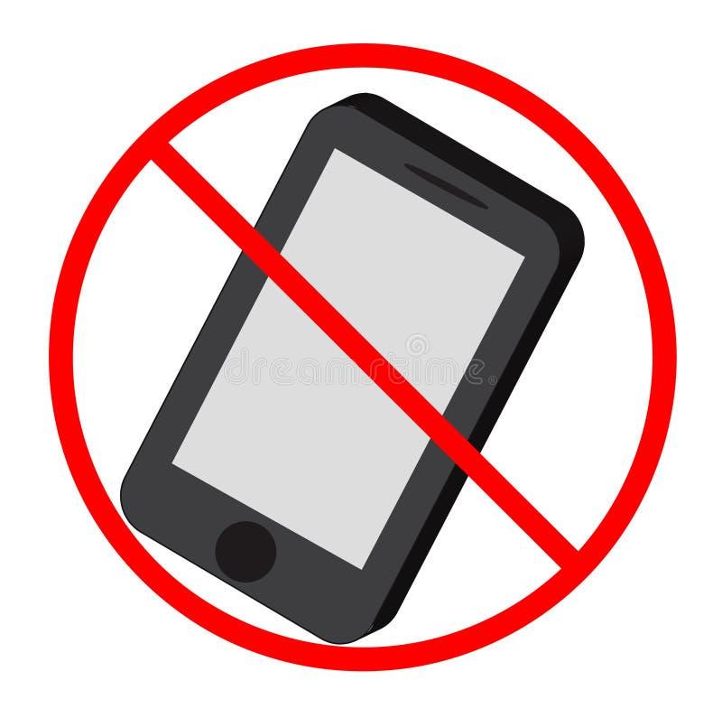 Ningún icono del teléfono de mobil foto de archivo libre de regalías