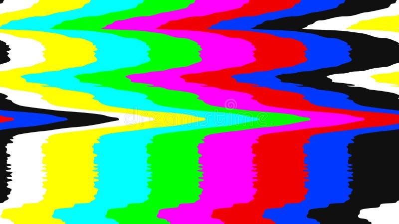 Ningún modelo de prueba de la señal TV Distorsión de la interferencia de Digitaces Ilustración del vector ilustración del vector