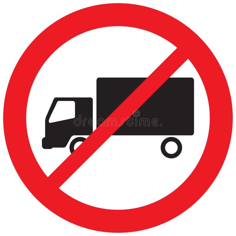 Ningún símbolo de la prohibición del camión ilustración del vector
