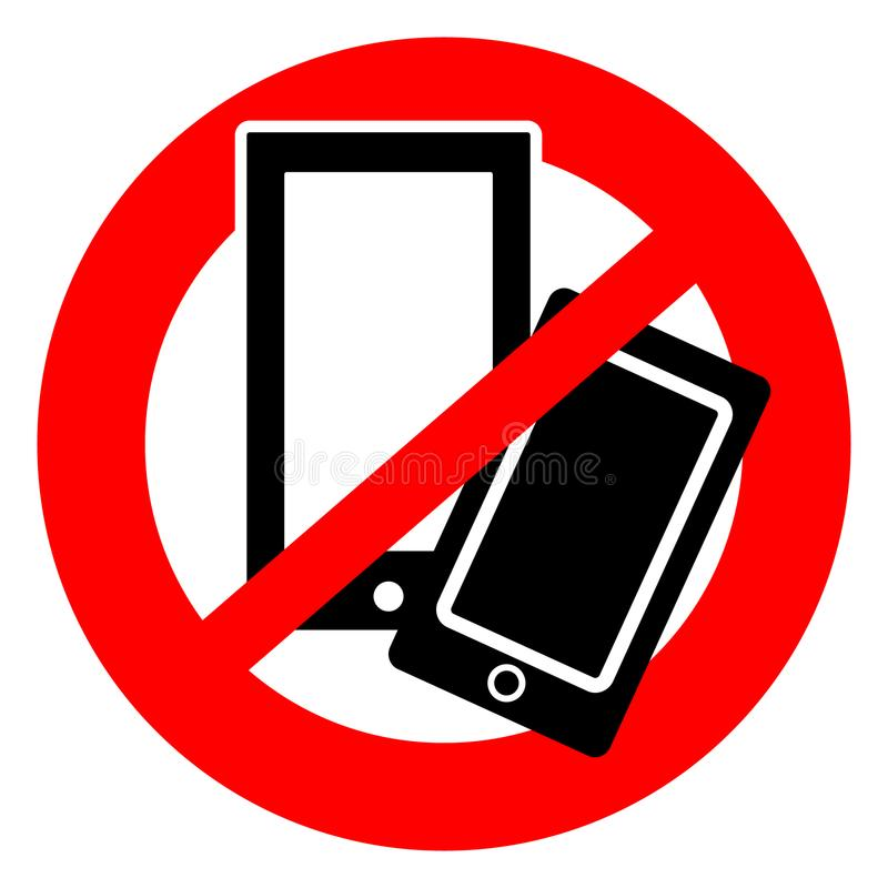 Ningún símbolo de los teléfonos móviles ilustración del vector