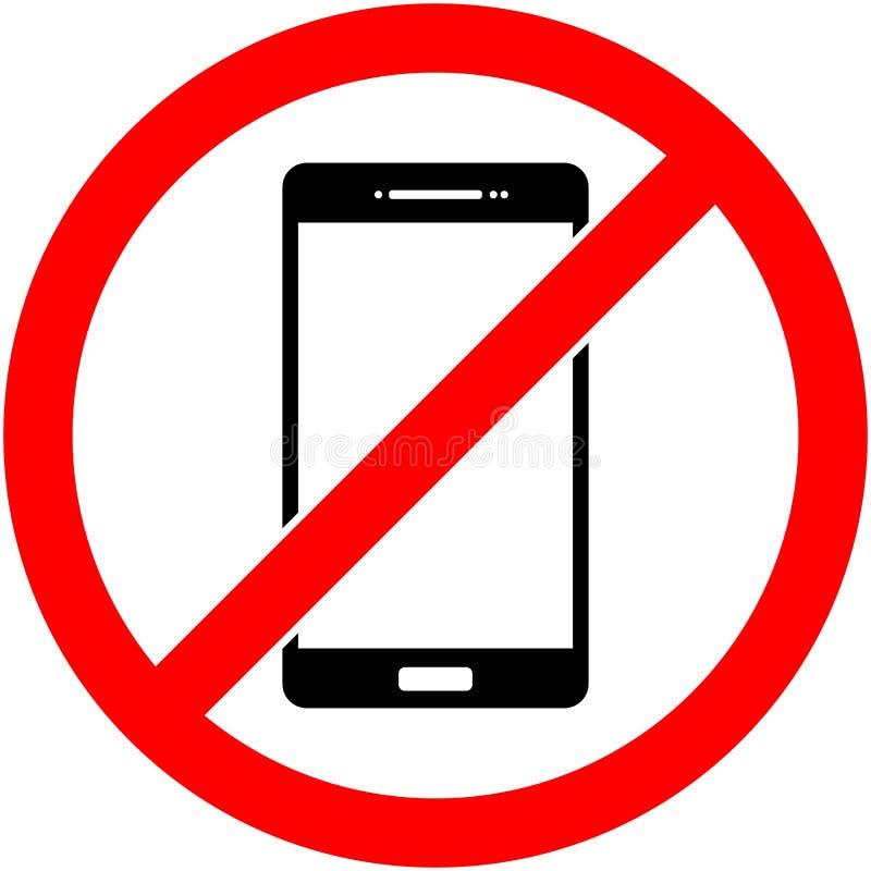 Ningún teléfono, teléfono prohibió símbolo Vector libre illustration