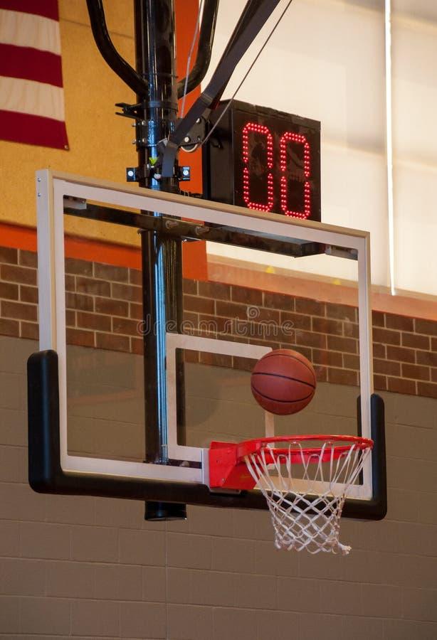 Ningún tiempo dejado para el tiro de baloncesto imágenes de archivo libres de regalías