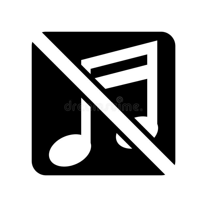 Ningún vector aislado en el fondo blanco, ninguna muestra del icono de la música de la música ilustración del vector