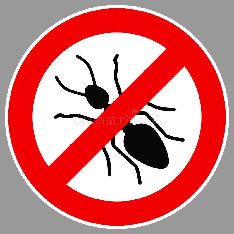 Ningún vector de la muestra de la hormiga ilustración del vector