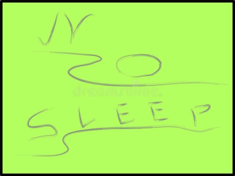 Ningún vector del subtítulo del sueño en la imagen ilustración del vector