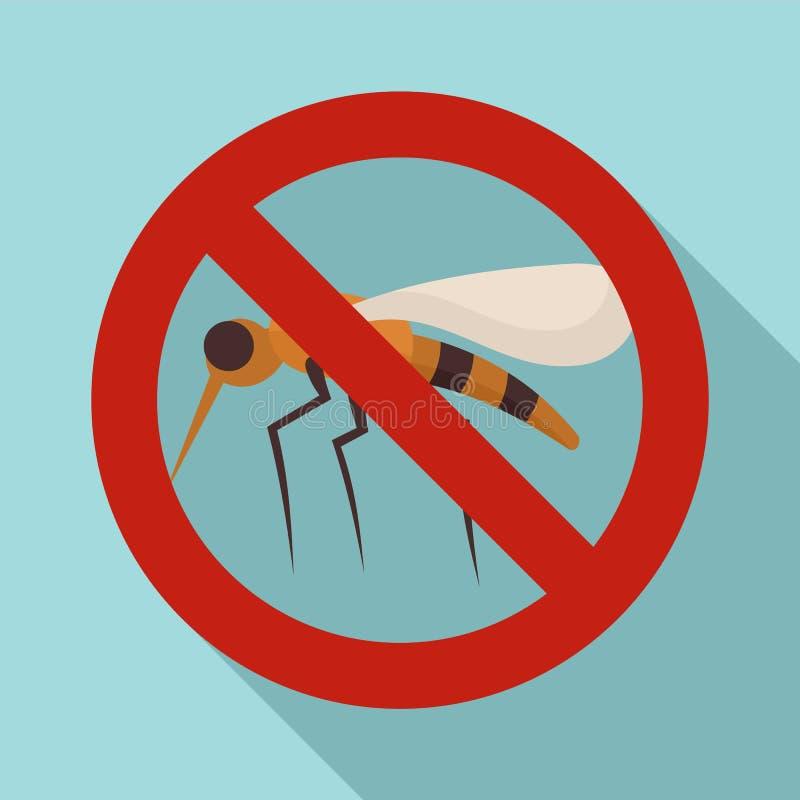 Ning?n icono de la muestra del mosquito, estilo plano libre illustration