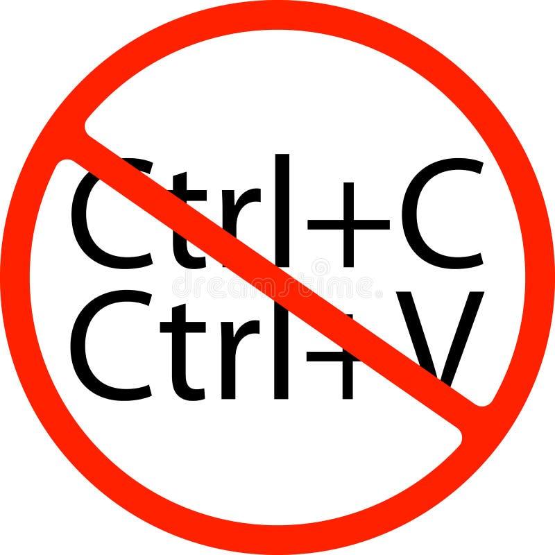 Ning?n o muestra de la parada L?nea icono de la firma de la pluma Muestra de Copywriting ilustración del vector