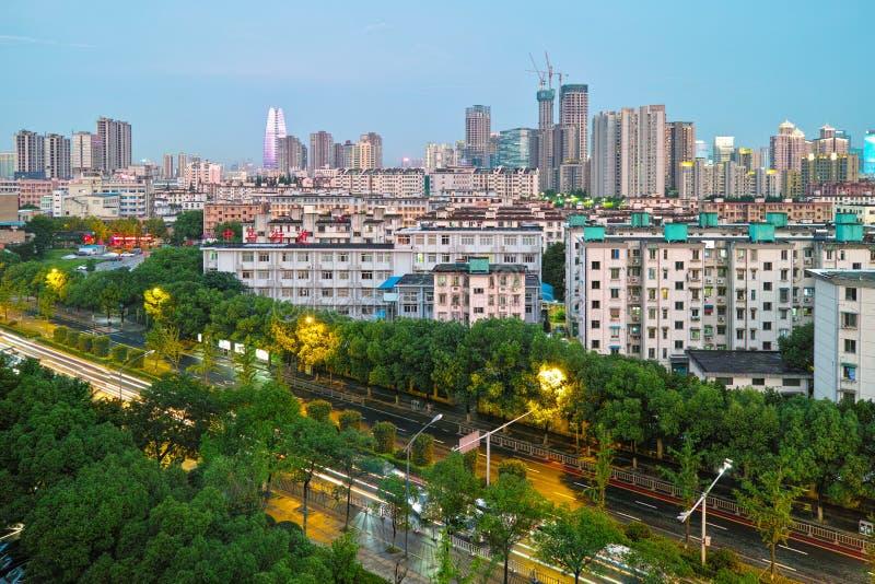 Ningbo, Zhejiang  street stock photo