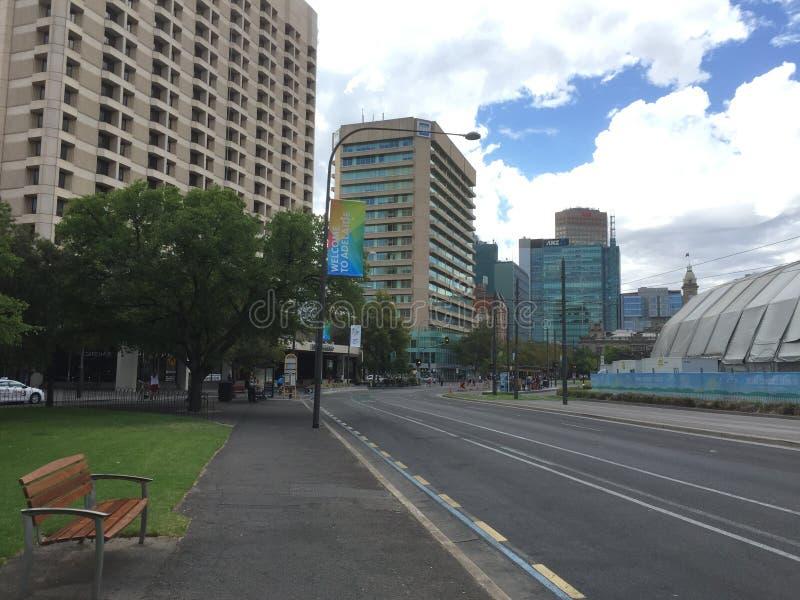Ninguém rua no fim de semana em Austrália fotos de stock