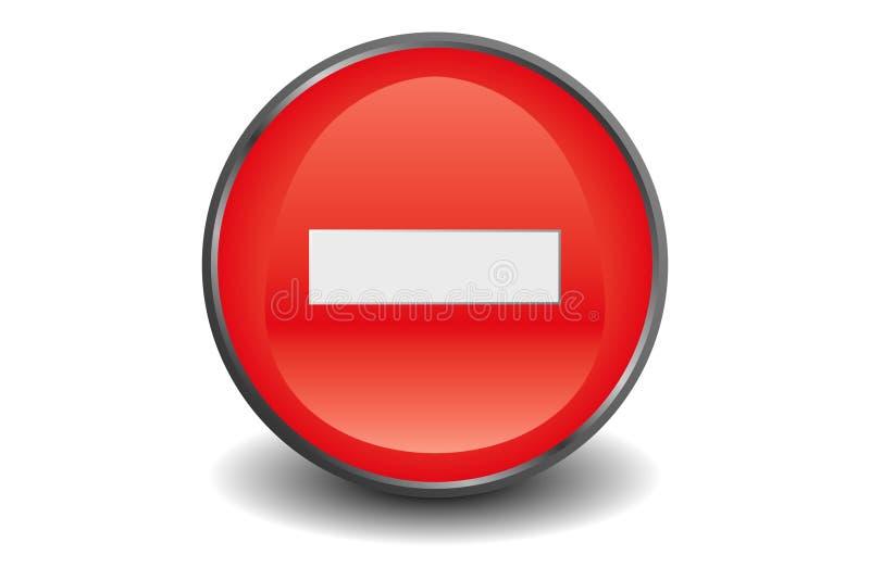 Ningún botón de la entrada ilustración del vector