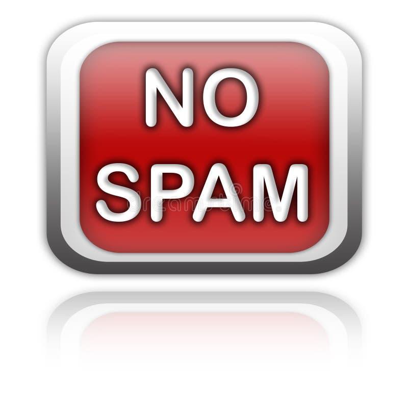 Ningún botón del Spam libre illustration