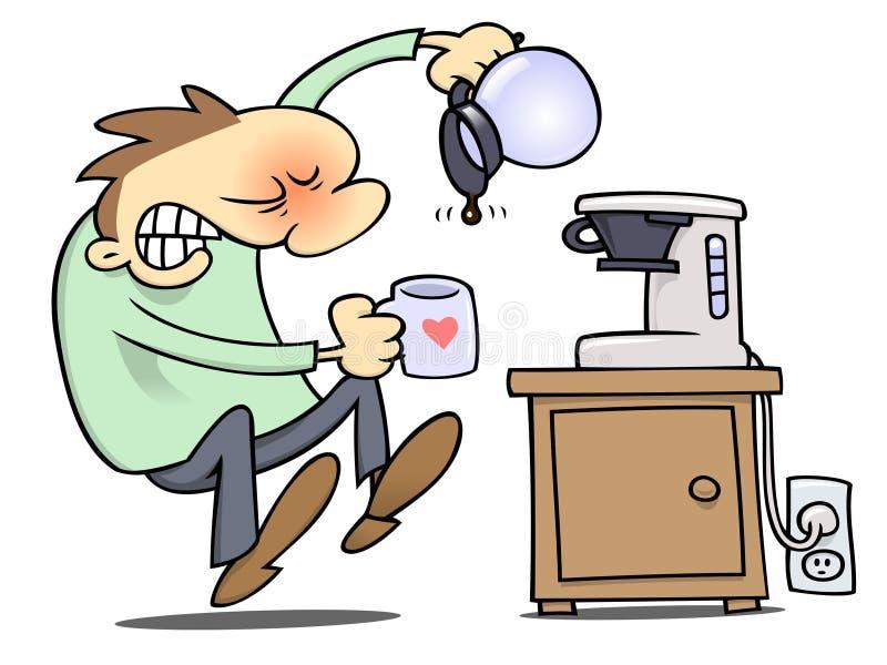 Ningún café libre illustration