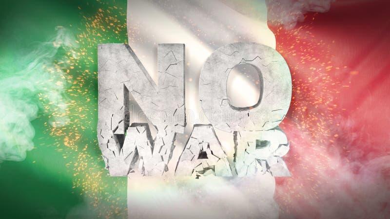 Ningún concepto de la guerra Indicador de Italia Textura altamente detallada agitada de la tela ilustración 3D libre illustration