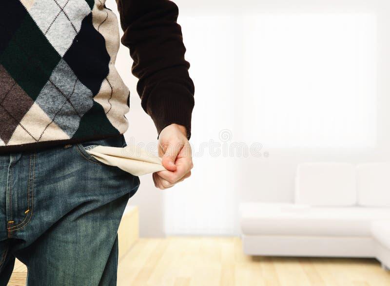 Ningún dinero aquí fotografía de archivo