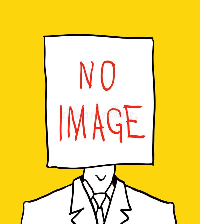 Ningún cuadro del perfil de utilizador Mano drenada ilustración del vector
