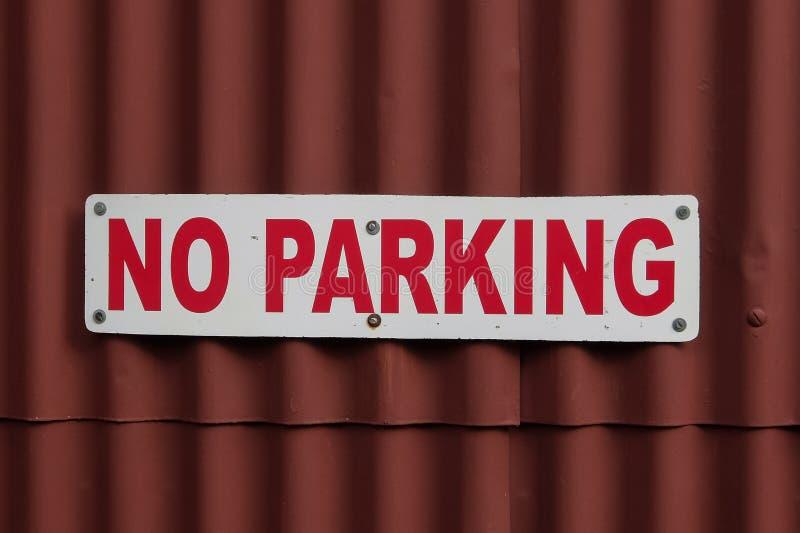 Ningún estacionamiento foto de archivo
