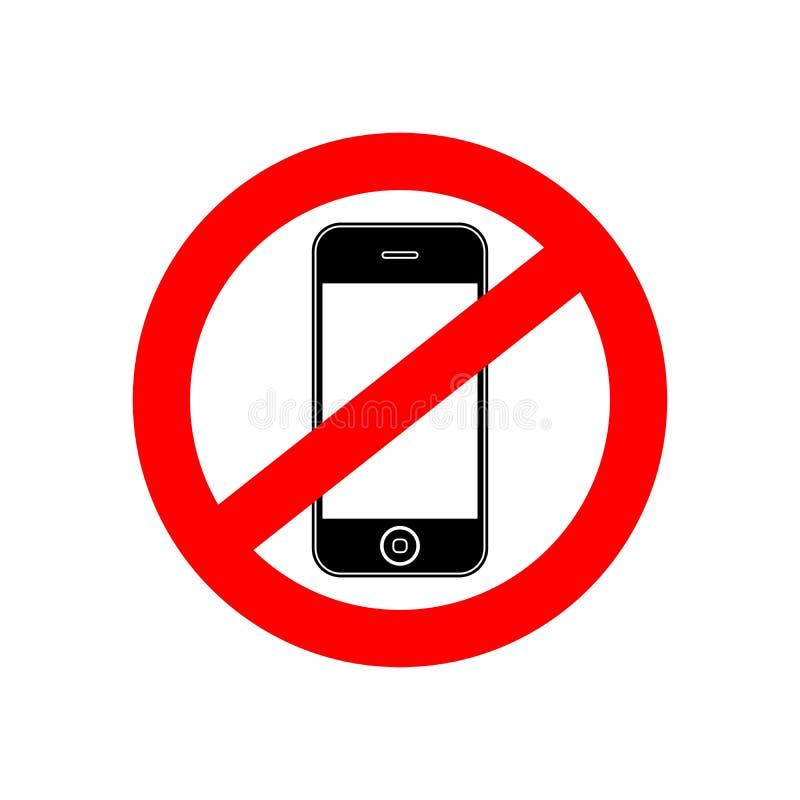 Ninguna bandera de la muestra del teléfono ilustración del vector