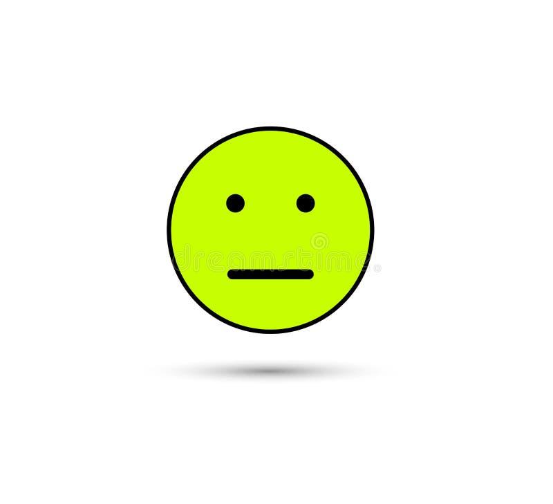 Ninguna buenos muestra y símbolo del vector del icono del humor aislados en el fondo blanco, icono del concepto del logotipo de l stock de ilustración