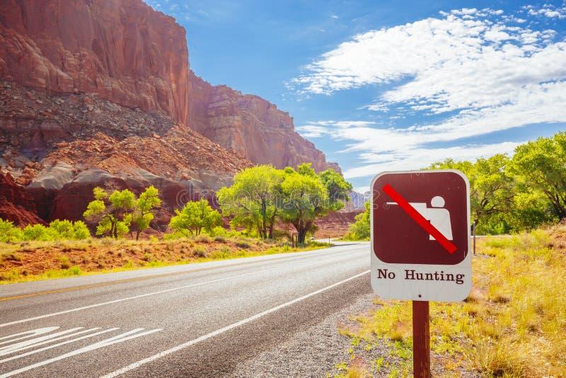Ninguna caza, parque nacional del filón capital, Utah, los E.E.U.U. imagenes de archivo