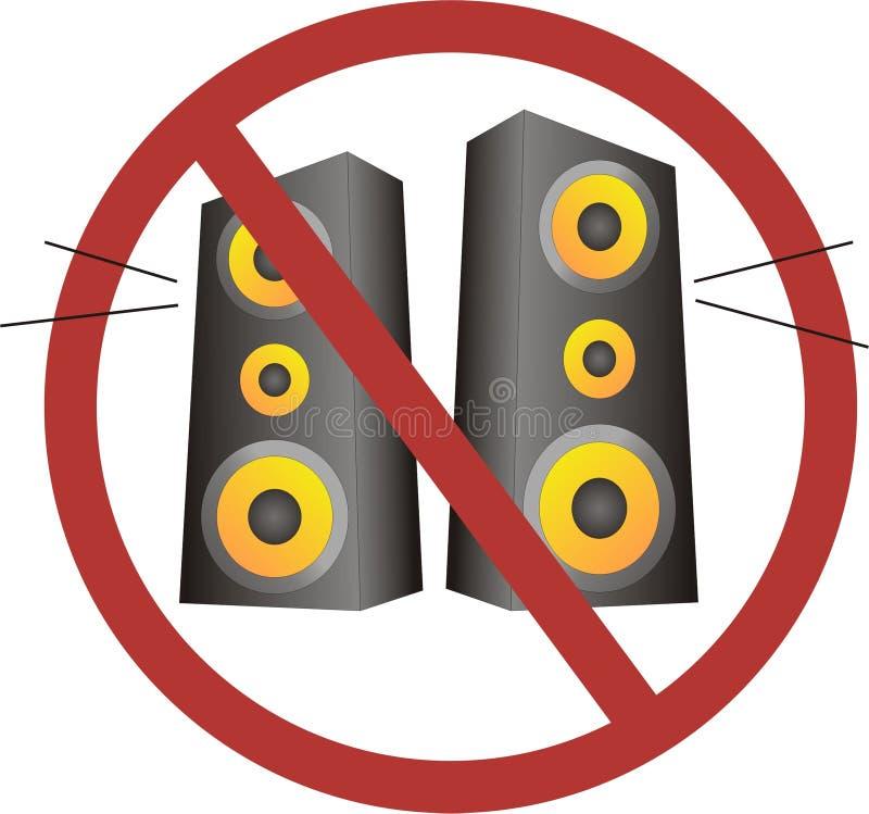 Ninguna música ruidosa libre illustration