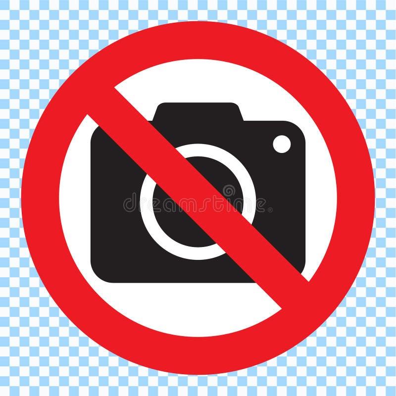 Ninguna muestra de la cámara de la foto Ninguna muestra de la fotografía stock de ilustración