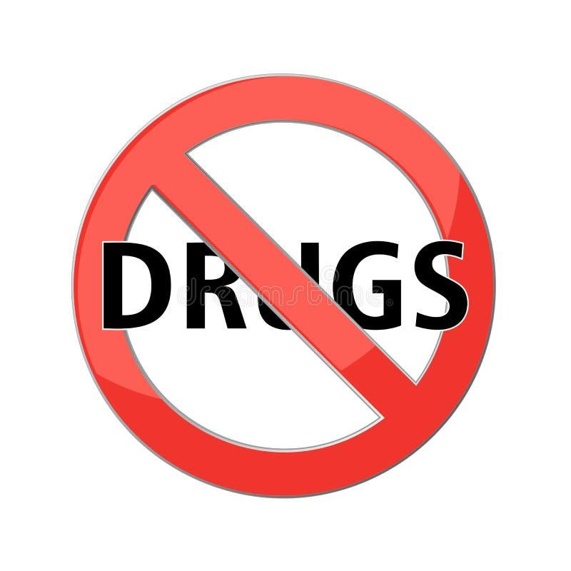 Ninguna muestra de las drogas stock de ilustración