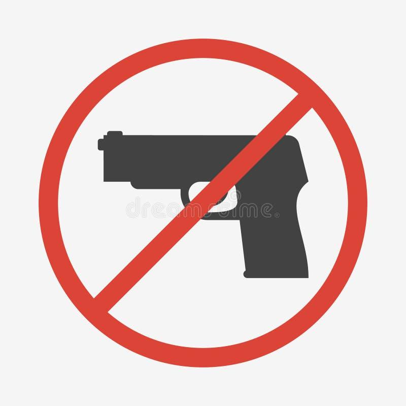 Ninguna muestra de los armas o de las armas Ilustración del vector ilustración del vector